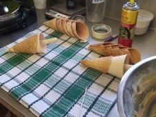 Homemade waffle cones
